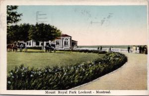 Mount Royal park Lookout Montreal QC Quebec Postcard D70 *As Is