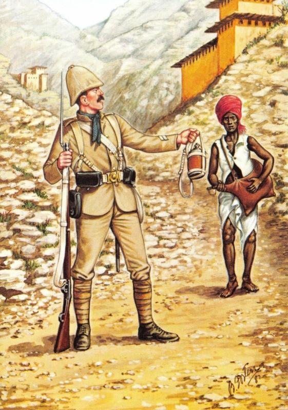 Postcard Gunga Din by Rudyard Kipling Private 66th Berkshire Regiment 1880 #10-2