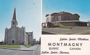 Eglise Saint - Mathieu & Eglise Saint - Thomas, Quebec, Canada, PU-1988