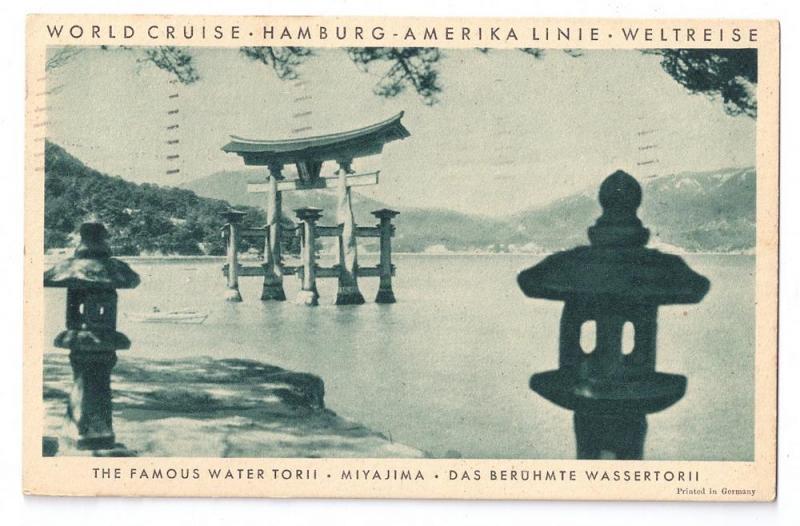 Hamburg Amerika 1931 World Cruise SS Resolute Japan Miyajima