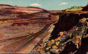 Minnesota Hibbing Sellers-Webb-Weggum Mine Curteich