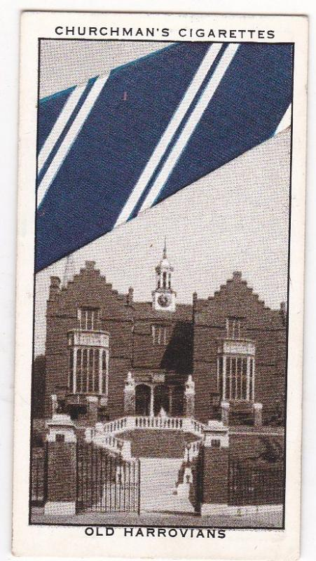 Cigarette Card Churchman WELL KNOWN TIES No 25 Old Harrovians