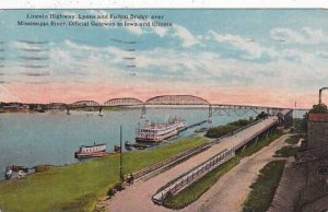 Illinois Chicago Lincoln Highway Lyons And Fulton Bridge Over Mississippi Riv...