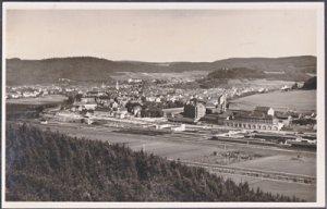 Tuttlingen Germany - Aerial of town on the Danube 1950s