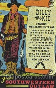 Billy the Kid Western Cowboy, Cowgirl Postcard Postcards  Billy the Kid