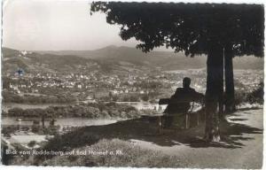 RPPC Blick vom Rodderberg auf Bad Honnef a. Rh Germany, 1965?