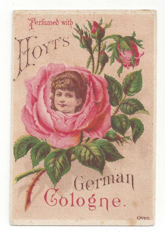 VictorianTrade Card Hoyts German Cologne Girl Rose