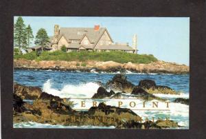 ME President George H W Bush Walker's Point Kennebunkport Maine Postcard