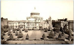 Boston, Mass. Real Photo RPPC Postcard First Church of Christ, Scientist #31MC