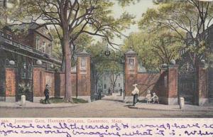 Massachusetts Cambridge Johnston Gate Harvard College