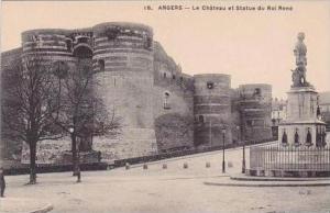 France Angers Le Chateau et Statue du Roi Rene