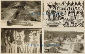 1920 Thebes Egypt Real Photo Postcards: Archaeological Antiquities & Art