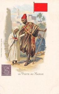 La Poste au Maroc, Morocco Marocain Postmen Chromo Postcard