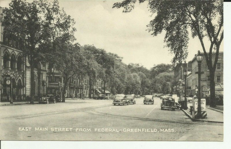 Greenfield, Mass., East Main Street From Federal