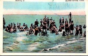 Connecticut Silver Beach Bathing Scene 1938