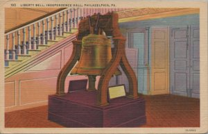 Liberty Bell Independence Hall Vintage Postcard 1955 Posted