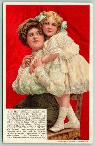 New York City~Metropolitan Life Victorian Lady & Daughter~1908 Advertising PC