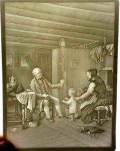 Antigüedad PPM Alemán para Vela Pantalla 554 19th Siglo 4 1/5.1cm x 15.2cm