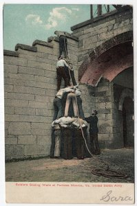 Soldiers Scaling Walls at Fortress Monroe, Va. United States Army
