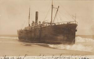 RP: HYANNIS, Massachusetts , 1907 ; Shipwreck of S.S. ONONDAGA