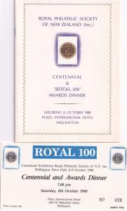 Wellington Town Hall New Zealand 1988 Awards Dinner Ticket FDC & Menu