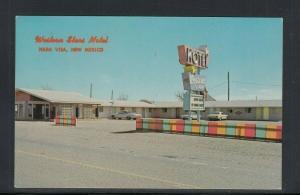 Chrome Postcard Nara Visa NM Western Star Motel Used 1967