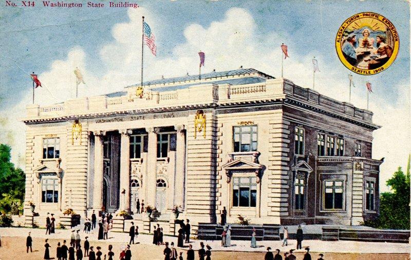 WA - Seattle. Alaska-Yukon-Pacific Exposition, 1909. Washington State Building