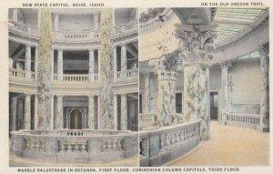 BOISE, Idaho, 1925; New State Capitol, Marble Balustrade in Rotunda, 1st Fl.,...