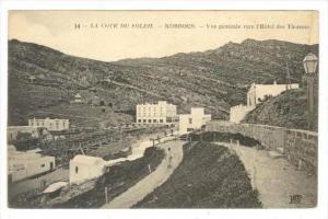 LA COTE DU SOLEIL.-KORBOUS.-Vue generale vers l'Hotel des Thermes, Tunisia, 0...