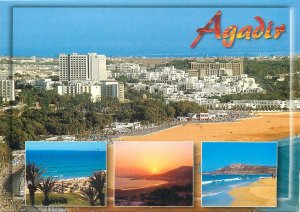Morocco Postcard Agadir different aspects