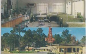 TALLAHASSEE FL - HOLLIS COURT MOTEL & RESTAURANT 1950s / NEON SIGN