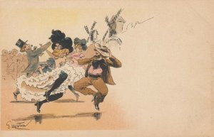 AS; G. MOUTON, 1901-07; Can-can dancers