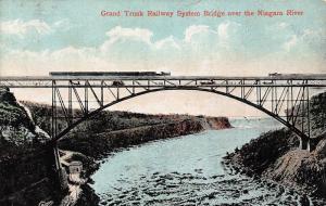 Grand Trunk Railway System Bridge over the Niagara River postcard