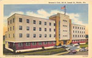 Mobile Alabama~Seaman's Club~St Joseph Street~Art Deco~1940s Cars~1950 Linen PC
