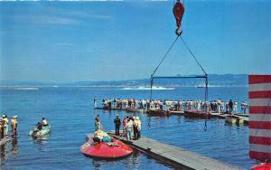Lake Washington Seattle WA Speedboat Racing Postcard