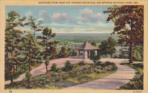 Arkansas Hot Springs National Park Southern View From Hot Springs Mountain 1948