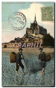 Old Postcard Mont Saint Michel General view North East Pecheurs