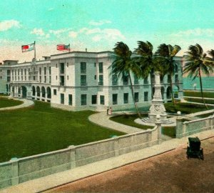 The Washington Hotel Colon Panama 1928 Vtg Postcard POC Panama to Everett WA