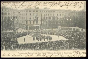 germany, HAMBURG, Promenaden-Concert, Denkmal Statue (1903) Stamps