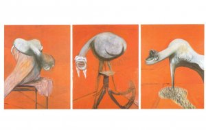 Francis Bacon Three Studies For Crucifixion Tate Gallery Painting Postcard