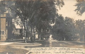 LP54   Michigan City   Indiana RPPC Postcard  Street View