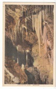 P1966 old hand colored postcard leamington cave bermuda unused