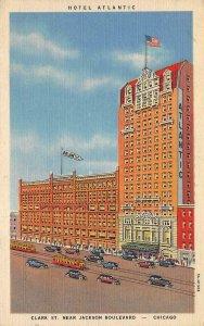 HOTEL ATLANTIC Chicago, Illinois ca 1940s Vintage Linen Postcard
