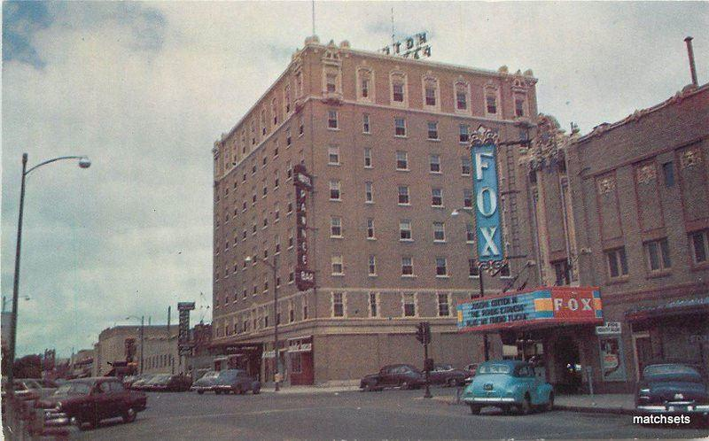 1950s Fox Theater Ee Hotel Marquee Auto North Platte Ne Postcard 2767 Hippostcard