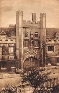 Cambridge, Christ's College Entrance Gate 1929