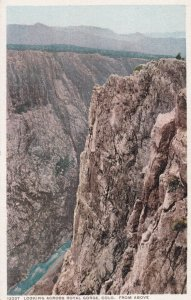ROYAL GORGE, Colorado, 1900-1910s; Looking Across Royal Gorge From Above