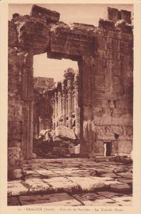 BAALBEK (Syrie) Lebanon; Temple de Bacchus - La Grande Porte, 10-20s