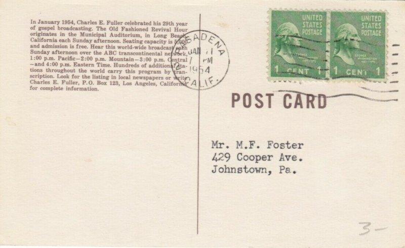 LONG BEACH , California , 1954 ; Old Fashioned Revival Hour, ABC & Affiliates