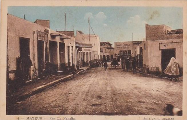 Tunisia Mateur Rue La Nahalia Street Scene