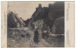 Art Postcard - The Old Briton Village - Vintage Real Photo